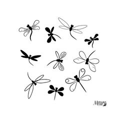 Your place to buy and sell all things handmade Dragonfly Drawing, Small Dragonfly Tattoo, Dragonfly Wall Art, Doodle Designs, Tattoo Designs, Garter Tattoos, Rosary Tattoos, Crown Tattoos, Bracelet Tattoos