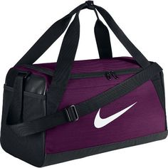 The Nike™ Brasilia Small Duffel Bag features a ventilated shoe compartment and a padded shoulder strap. Nike Duffle Bag, Backpack Bags, Duffel Bags, Gym Accessories, Nike Bags, Best Luggage, Cheap Bags, Girl Backpacks, Casual Bags