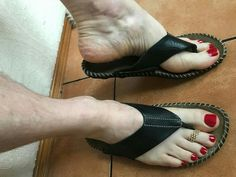Men Nail Polish, Toe Polish, Low Heel Sandals, Low Heels, Mens Nails, Polished Toes, Long Fingernails, Painted Toes, Male Grooming