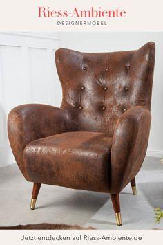 Das zeitlose Design des Sessels kann von Dir in jedes Ambiente problemlos integriert werden. Als Erweiterung für Deine Wohnlandschaft oder auch als gemütliche Sitzgelegenheit im Schlafzimmer macht der imposante Sessel eine hervorragende Figur. Kombiniere ihn am besten mit einem kleinen Beistelltisch aus unserem Shop, so hast Du immer eine praktische Ablagefläche zur Hand. Retro Look, Elegant, Design, Small Occasional Table, Seating Areas, Bedroom, Classy, Chic