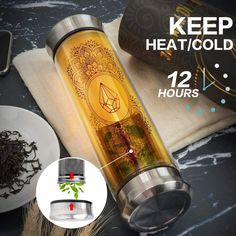 Amazon.com: MSTK Tea Infuser Tumbler – Leakproof Double Wall Glass Tea Bottle with Strainer for Loose Leaf Tea and Fruit Infused Water - BPA Free Portable Travel Tea Mug with Filter 13 oz: Kitchen & Dining Tea Infuser Bottle, Keto Diet Benefits, Health Benefits, Perfect Cup Of Tea, Ketogenic Diet Food List, Green Tea Benefits, Fruit Infused Water, Keto Diet For Beginners, Loose Leaf Tea