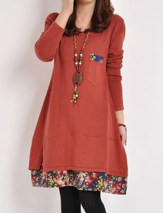 Pastoral Style Floral Printed Dress