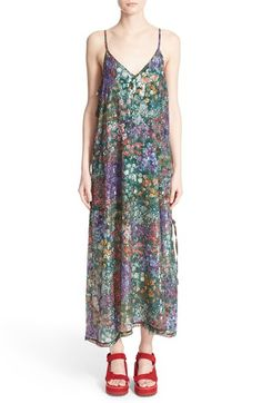 Marques'Almeida Sequin Embellished Floral Print Slipdress available at #Nordstrom