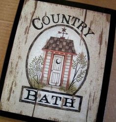 Outhouse Wood Sign Outhouse Primitive Wood Sign Country Rustic