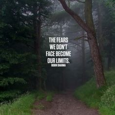 The fears we don't face become our limits. #Robin Sharma #quote #inspiration                                                                                                                                                     More