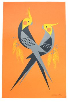 Definitely smacks of Charley Harper rip-off, but I still love almost everything Eleanor has on her site.