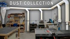 In this weeks video I cover the installation and design of my new thin wall PVC central dust collection system. If you want to watch me install the Clear . Woodworking Shop Layout, Woodworking Projects, Woodworking Workshop, Wood Shop Projects, Home Projects, Dust Collection Hose, Dust Collection Systems, Woodworking Vacuum, Woodworking Bench