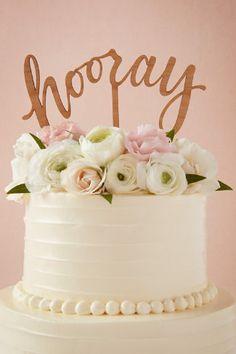 'Hooray' cake topper