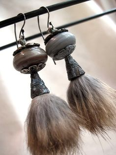 Silver Glass and Salvaged Fur