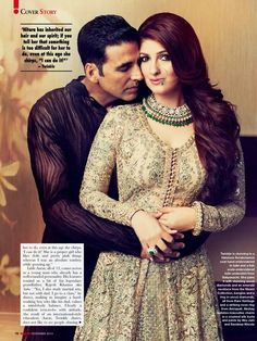 Twinkle Khanna met Akshay Kumar for the first time during a photo session for Filmfare magazine. Twinkle Khanna married Akshay Kumar in 2001 at the age of Together they have a son and a daughter. Bollywood Couples, Indian Bollywood, Bollywood Actors, Bollywood Celebrities, Bollywood Fashion, Akshay Kumar And Twinkle, Akshay Kumar Style, Indiana, Twinkle Khanna