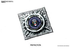 Protection. By Michael Ramirez #GoComics #PoliticalCartooon #SecretService #Politics