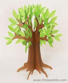 3D Paper Tree Craft   Kids' Crafts   FirstPalette.com