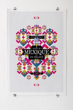 Les Graphiquants is an amazing design studio from Paris. Mexican Graphic Design, Mexican Designs, Graphic Design Branding, Graphic Design Posters, Typography Design, Graphic Art, Illustration Design Graphique, Art Graphique, Design Art