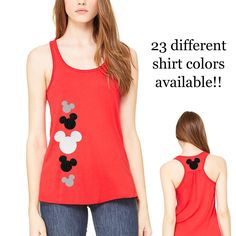 Mickey Mouse Glitter Tank,Disney Tshirt,Ladies Disney Racerback Tank,Glitter Mickey Mouse,Mickey Mouse Tank Top,Disney Vacation Shirt