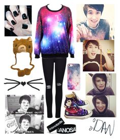 """""""Dan howell Inspired"""" by youtube-crazy ❤ liked on Polyvore featuring Frame Denim, BlissfulCASE, Converse, Inspired, danisnotonfire, danhowell, youtube and Youtuber"""