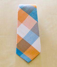 Mosaic - Orange Blue Plaid