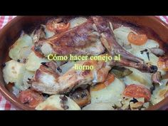 Receta simple de conejo al horno - YouTube