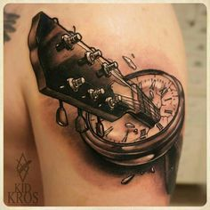 tattoo # tatoostyle # tattoostyle # tattoos # tatts # ideas # tattooideas # ideastattoo # tatoomania # tattooman # tattoogirl # look # looktattoo # tattoolook # art # tattooart # arttattoo # life # tattoolife # tattoolove # love Dream Tattoos, Up Tattoos, Music Tattoos, Body Art Tattoos, Future Tattoos, Sleeve Tattoos, Tattoos For Guys, Tatoos, Guitar Tattoo Design