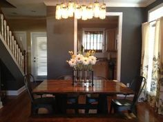 6' Trestle Table, no apron, in Dark Walnut Stain with Black paint