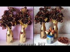 الاستفادة من زجاجات العصير وتحويلها الى فازات روعة // DIY : flower vase ... Crochet Dress Girl, Girls Dresses, Bottle, Ideas, Home Decor, Dresses Of Girls, Decoration Home, Room Decor, Flask