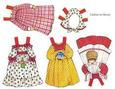 Muñecas para recortar: Muñecas antiguas