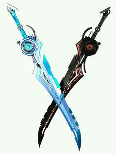 Sci-Fi Swords by Kalephrex - Waffen - Anime Weapons, Sci Fi Weapons, Weapon Concept Art, Zombie Weapons, Sci Fi Armor, Survival Weapons, Science Fiction, Fan Fiction, Swords And Daggers