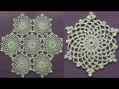 CROCHET Doily Motif Snowflake How to join motifs Part 2 - YouTube