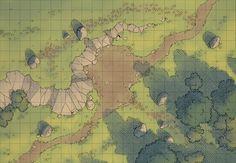 battle map maps plains pathfinder dragons dungeons cliff forest road camp wilderness fantasy battlemap rpg dungeon rpgs table warhammer dark