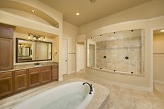Southlake 4,287 Sq. ft. Home - Master Bathroom with Walk-Through Shower