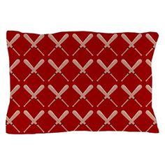 Baseball Bat Pattern Pillow Case