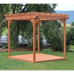 The pergola kits are the easiest and quickest way to build a garden pergola. There are lots of do it yourself pergola kits available to you so that anyone could easily put them together to construct a new structure at their backyard. Pergola D'angle, Curved Pergola, Steel Pergola, Building A Pergola, Deck With Pergola, Pergola Lighting, Pergola Shade, Pergola Plans, Pergola Ideas