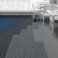 Interface Floor Design    | B703: Atlantic, B702: Pacific, B701: Black Sea, B702: North Sea, B703: Arctic, B603: Arctic, B602: Arctic, B601: Arctic |    Find inspiration for your next interior design project with floors composed of modular carpet tiles from Interface