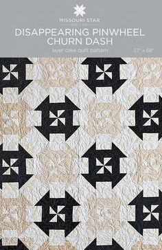 Digital Download - Disappearing Pinwheel - Churn Dash Quilt Pattern from Missouri Star Quilt Co