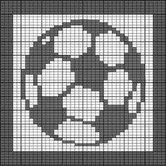 Barbaras Hooks, Eyes and Needles: Soccer Ball FaceCloth - Dishcloth