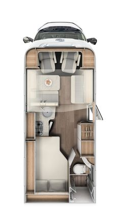 Capron GmbH Neustadt – Motorhomes from Saxony – CARADO – Semi-Integrated - caravan Van Conversion Interior, Camper Van Conversion Diy, Van Conversion Floor Plans, Sprinter Van Conversion, Motorhome Vintage, Vintage Airstream, Motorhome Sprinter, Motor Casa, Travel Trailer Floor Plans
