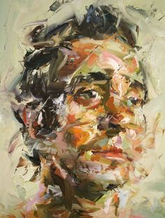 Powerfully Moving Brush Strokes of UK #expressionist artist Paul Wright portrait paintings