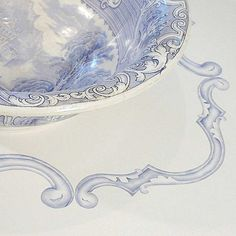 Ornamental Scroll Set can be used to create custom panels for furniture or walls   Royal Design Studio Stencils