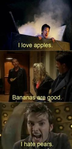 """I HATE PEARS"" possibly one of the most funny scenes in Doctor Who"