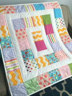 Simple Modern Baby Quilt Pattern From Oh Fransson Modern Baby Quilt Pattern Book Ready To Ship Modern Baby Quilt Mat For Baby Car 3 4 N Irynascrafts Modern Baby Quilt Patterns Free