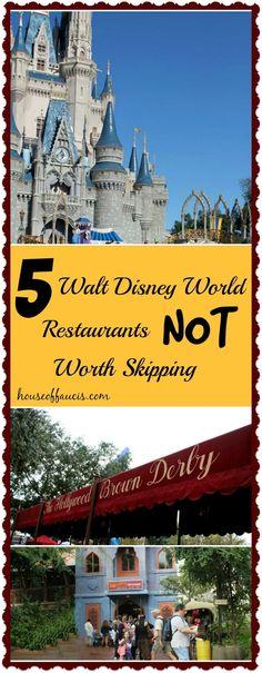 5 Walt Disney World Restaurants Not Worth Skipping