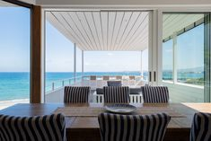 This 80's house on a popular little beach in the Western Cape was given a complete makeover, making it hard to believe that this isn't a new build!. New Builds, Seaside, Cape, Popular, Table Decorations, Building, Beach, Projects, House