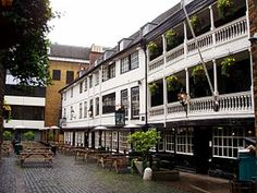 The George, or George Inn, is a public house established in the medieval period on Borough High Street in Southwark, London. Currently owned and leased by the National Trust, it is located on the south side of the River Thames near London Bridge. It is the only surviving galleried London coaching inn.The first map of Southwark (Duchy of Lancaster ca1543) clearly shows it marked as 'Gorge'.