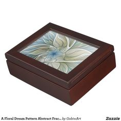 A Floral Dream Pattern Abstract Fractal Art Memory Box