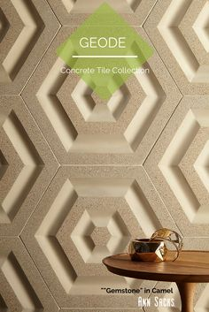 ANN SACKS Geode concrete tile collection by Andy Fleishman. Shown: Gemstone in Camel