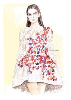 Lena Ker Fashion Illustration.