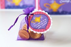 aladdin party favor tags (+ invite and other party pieces)