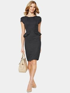 South Stretch Fashion Peplum Work Dress, http://www.isme.com/south-stretch-fashion-peplum-work-dress/1270862463.prd