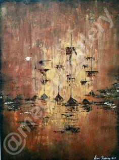 Artist: Masoura Niki Title: galleys 60x80dim mixed media  760euros Joomla Templates, Mixed Media, Sea, Gallery, Artist, Painting, Painting Art, Mixed Media Art, Ocean