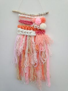 Items similar to Weaving Nursery Decor Medium Handmade Weave Woven Wall Hanging on Etsy Weaving Loom Diy, Weaving Art, Tapestry Weaving, Hand Weaving, Weaving For Kids, Weaving Wall Hanging, Weaving Projects, Greeting Cards Handmade, Textile Art