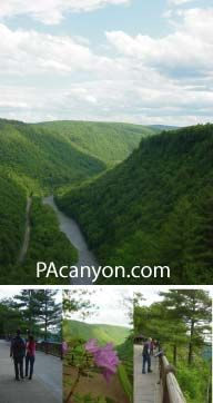 Just below the NY border and in the top central part of PA, is the Pennsylvania Grand Canyon...amazingly beautiful (especially in the fall) with great trails for hiking and biking.  Sometimes the most beautiful places are just a short drive away:)